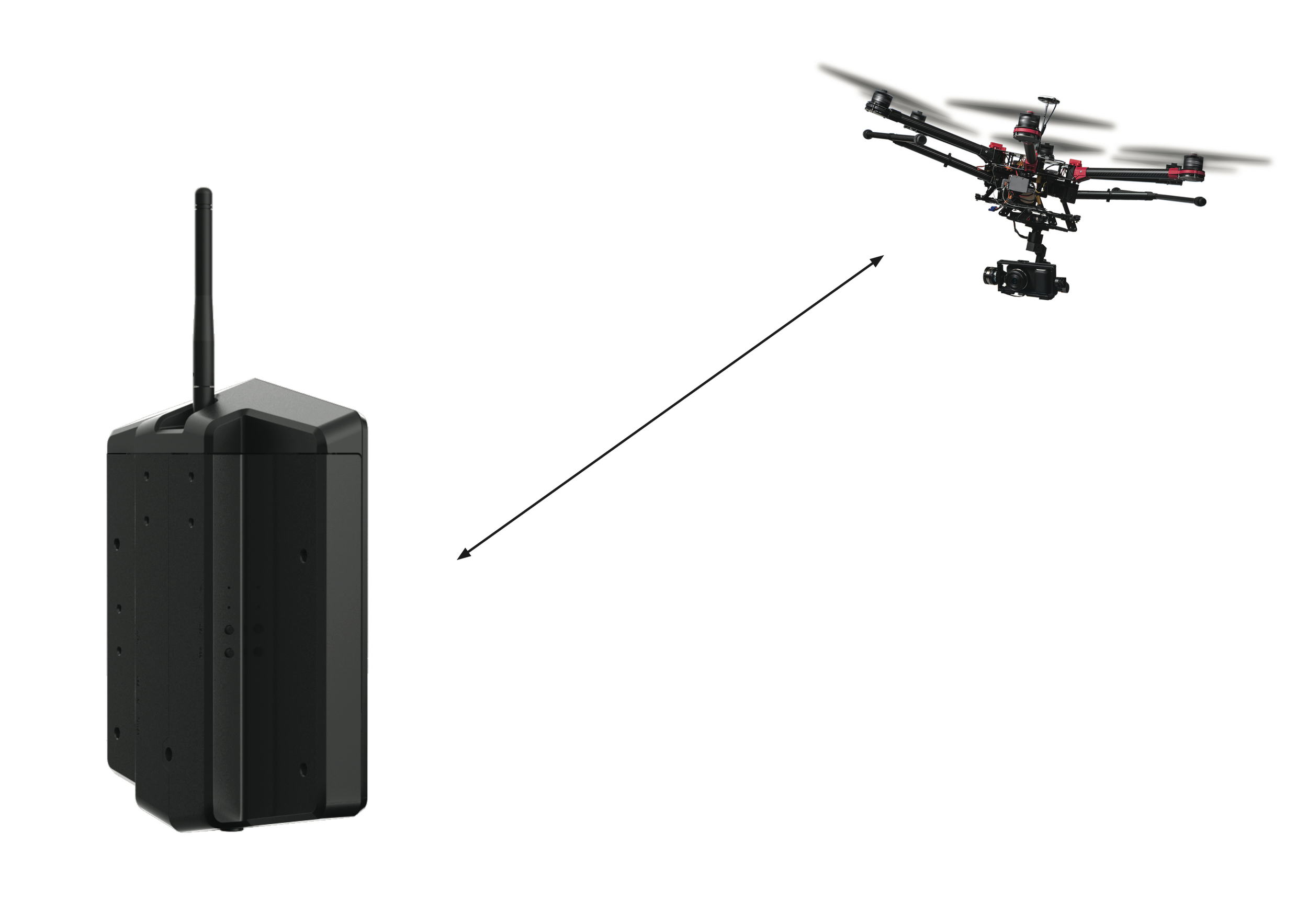 Antennas Facing the Drone